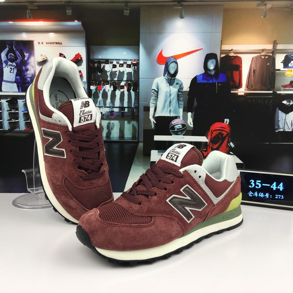 sports shoes 3465b b9331 original new balance 574 nb574 maroon red for men women running shoe size  36-44