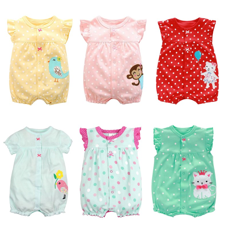 Infant Toddler Baby One-Piece Ruffled Collar Sleeveless Romper Jumpsuit Clothes for 0-3Years BOBORA Baby Romper