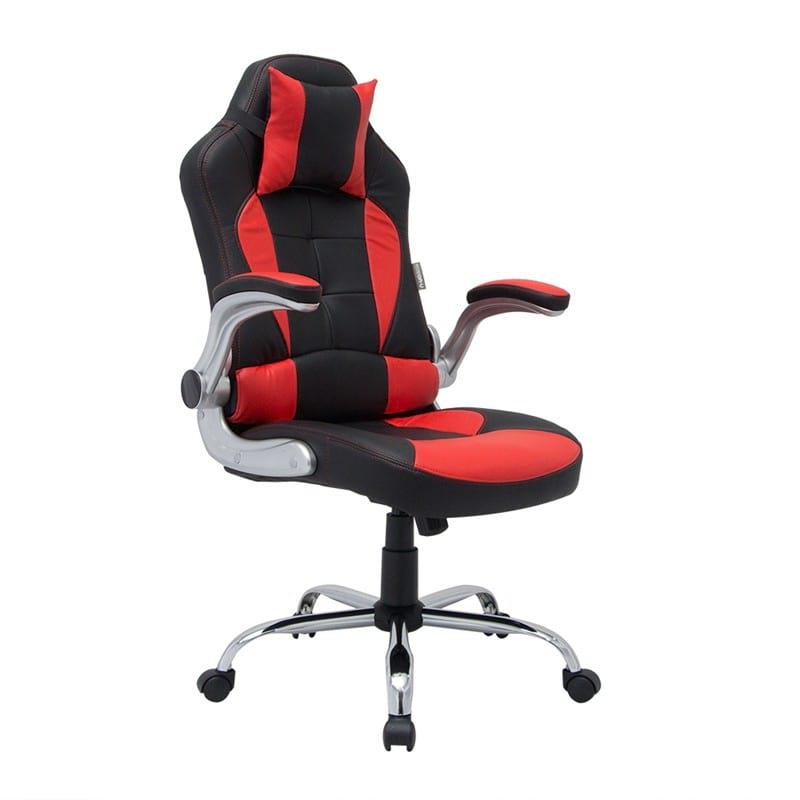 U-RO DECOR รุ่น RANGER (เรนเจอร์) เก้าอี้สำนักงาน เก้าอี้เล่นเกมส์ สีดำ/แดง ปรับสุง 125 CM. Office chair gaming chair