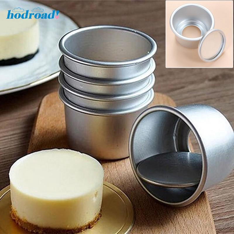 5pcs Set 2 5 Mini Cake Pan Aluminum Alloy Pudding Mold