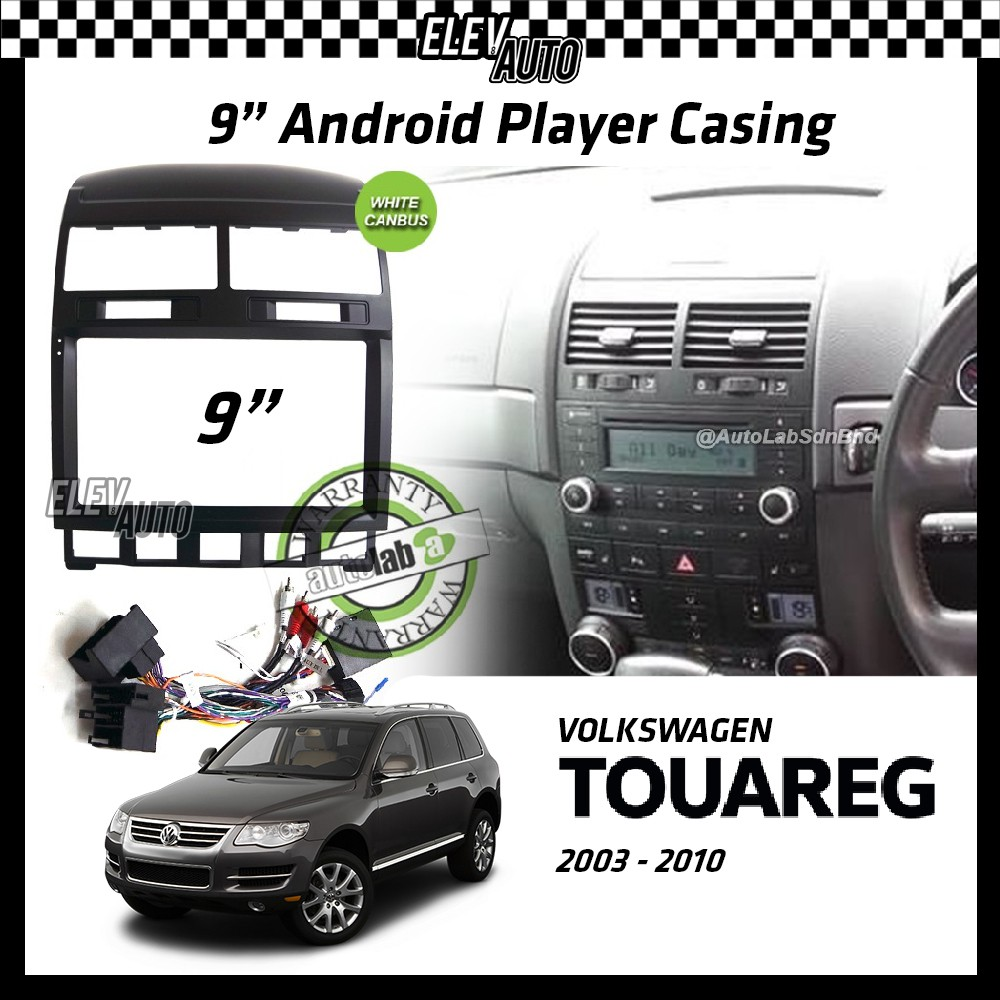 """Volkswagen Touareg 2003-2010 Android Player Casing 9"""" with Canbus"""