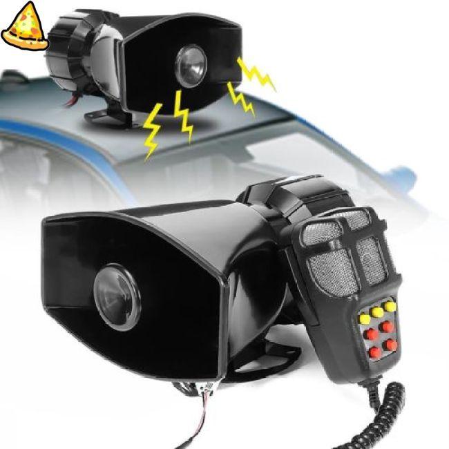 Car Electronic Warning Siren Motorcycle Alarm Firemen Ambulance Loudspeaker with MIC 100W 12V 3 Sound