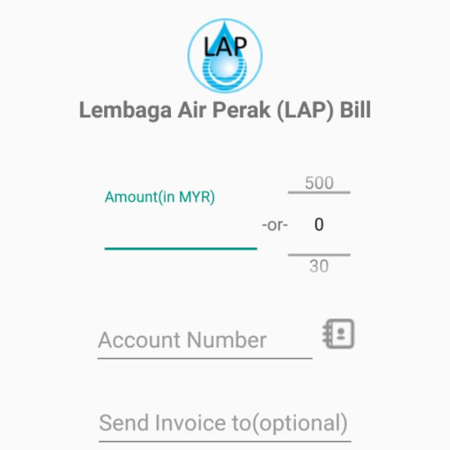 Lembag air perak lap bill payment rm10