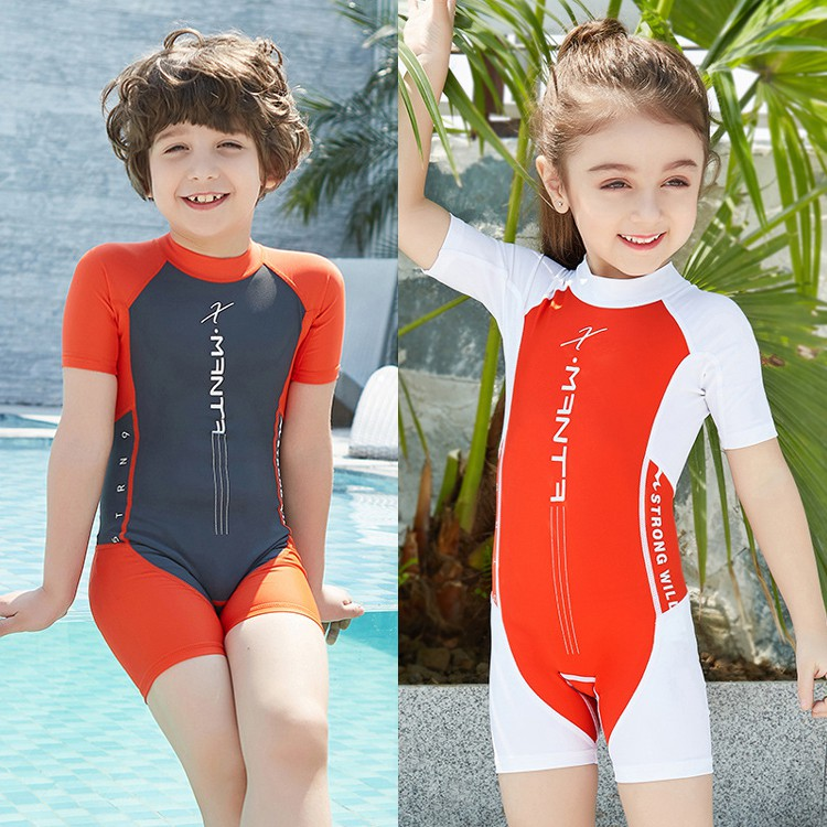 Children 2.5 mm Neoprene Wetsuits One Piece Full Body Diving Swimsuits for  Boys  84a4ff6a4