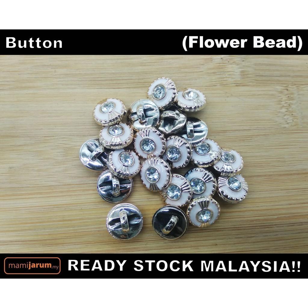 Butang Flower Bead (blouse/lengan baju/butang baju kebaya) - BUT022