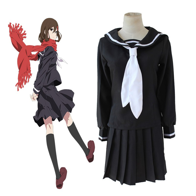 100% Quality Charlotte Tomori Nao Sailor Suit School Uniform Dress Outfit Cosplay Costumes Women's Costumes