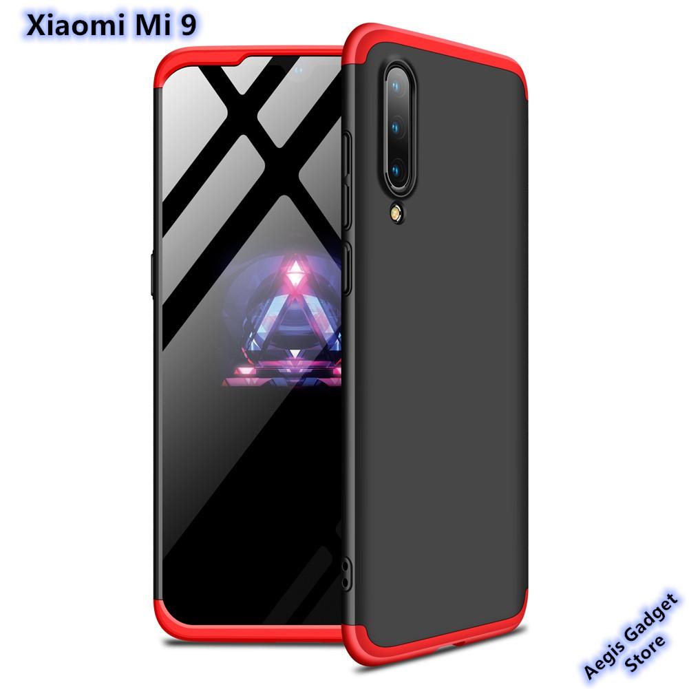 new arrival 2d583 d818a Xiaomi Mi 9 GKK 360 Degree Protection Hybrid Case Cover Casing
