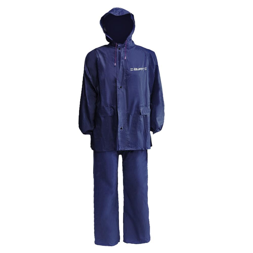 Raincoat QUAT Basic Range Q51 Free Size Baju Hujan Motorcycle (BLUE)