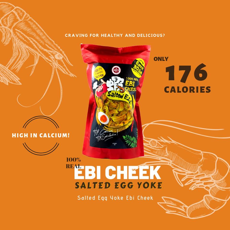 [Original] Hofu Salted Egg 100% Real Ebi Cheek and Fries Packet 黄金咸蛋鲜虾头脆片 (60g)