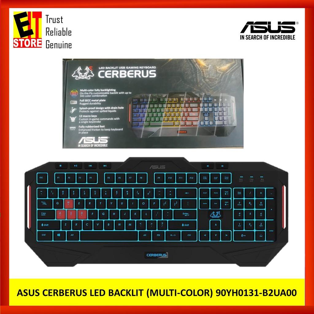 ASUS CERBERUS LED BACKLIT USB GAMING KEYBOARD (MULTI-COLOR)(90YH0131-B2UA00)