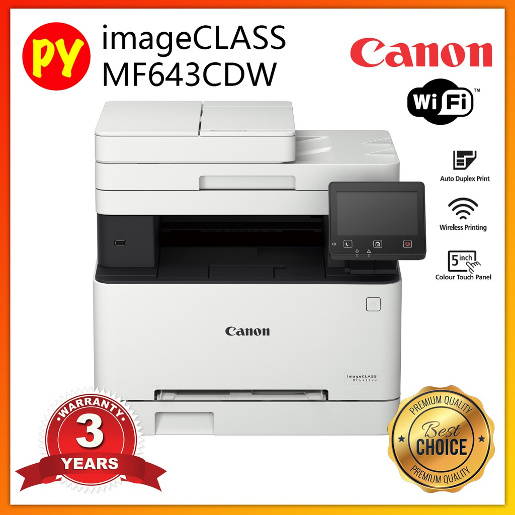 Canon ImageCLASS MF643Cdw (Print,Scan,Copy) Laser Color Printer (Replaced  MF633CDw)
