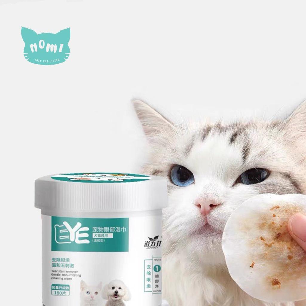 READY STOCK NOMI Pet Eye Wet Wipes Wipe Cat Dog Tear Stain Remover Gentle Cleaning Wipes kucing pembersih mata  宠物眼睛清洁