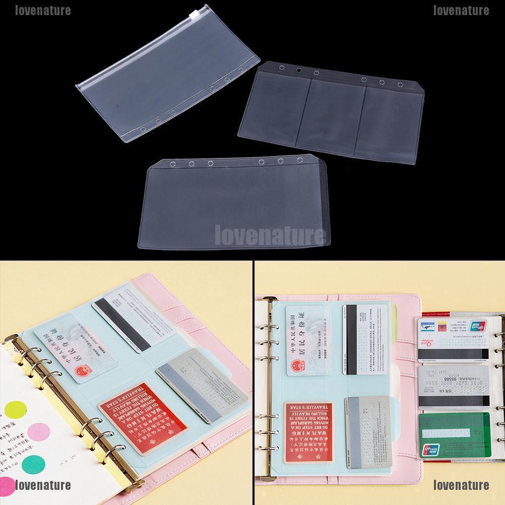 e6bd70c9818f ♑LOV♑ A5/A6 Transparent Zip Lock Envelope Binder Pocket Refill ...