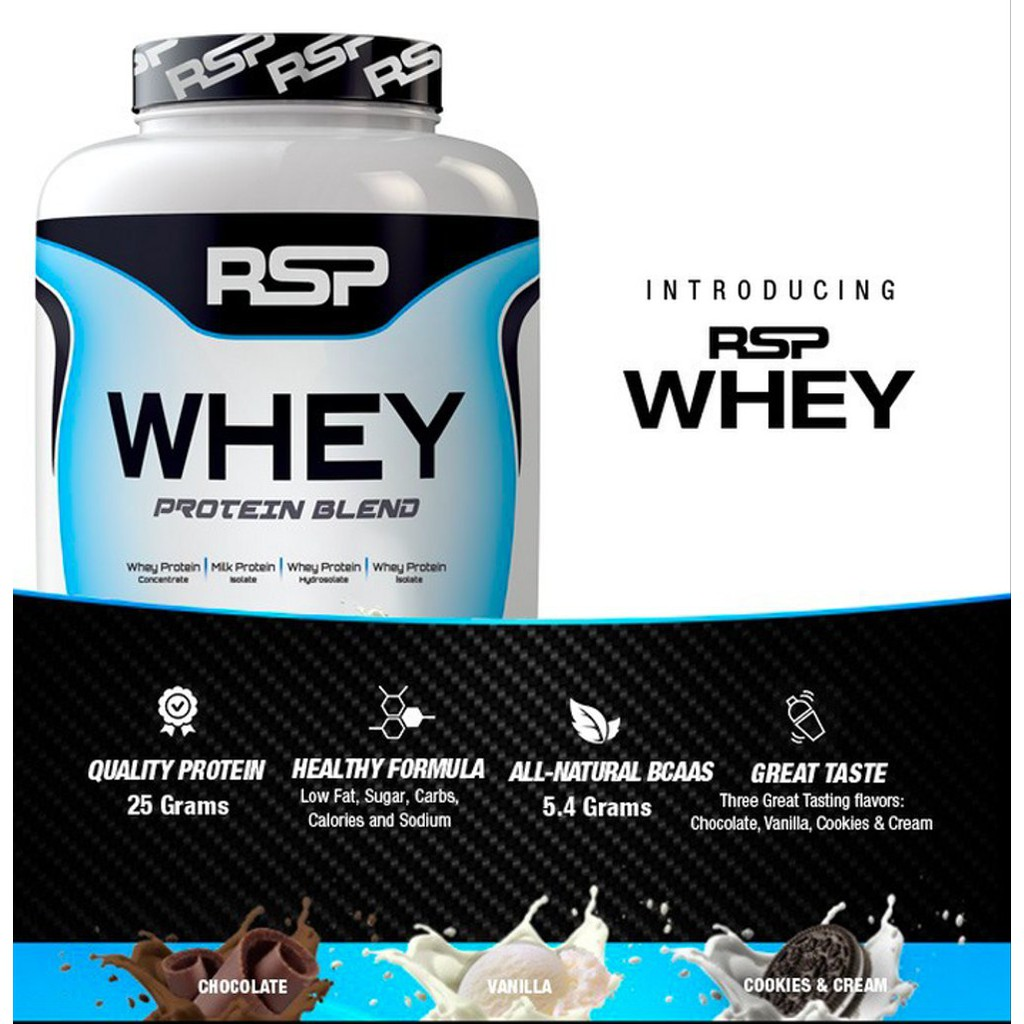 RSP Nutrition Whey Protein Powder Chocolate 4.6 lbs (2.09 kg) increase strength & gain muscle (SHIP FROM USA) | Shopee Malaysia