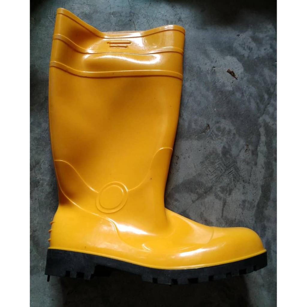 5b99f6cd094 Yellow Rubber Boot Midsole Steel Toe Cap   Shopee Malaysia