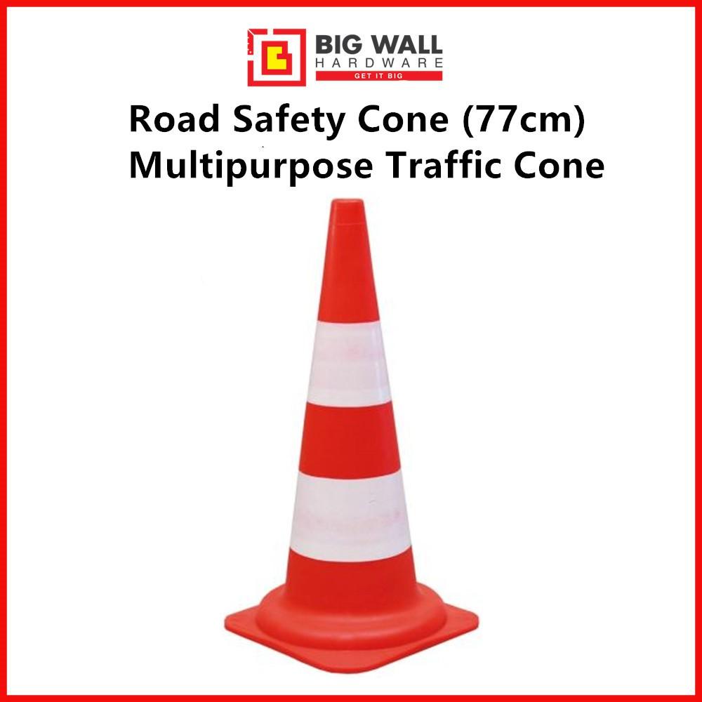 Safety Cone 77cm Multipurpose Traffic Cone (Red/Orange) Kon Keselamatan