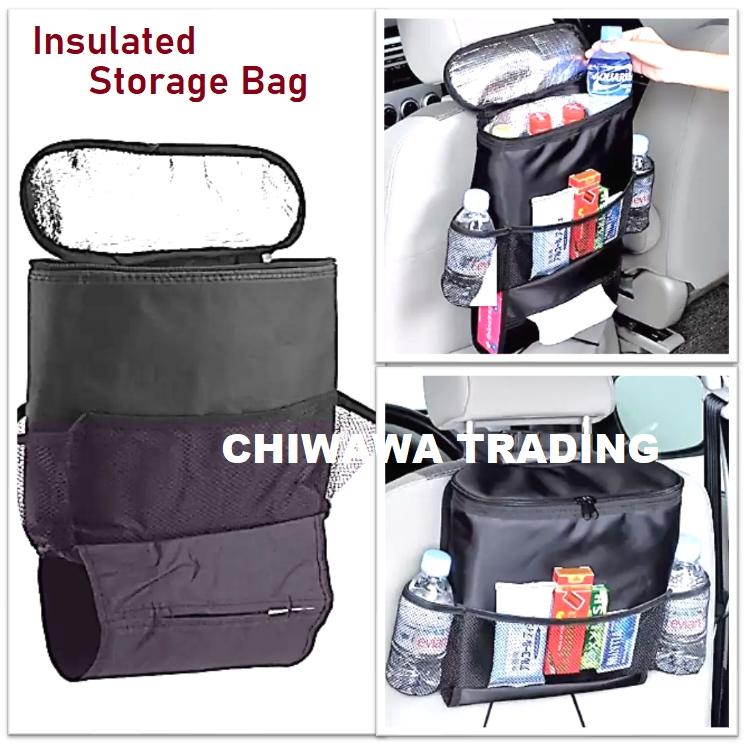 Car Vehicle Chair Seat Back Cold Hot Insulation Storage Bag Multi Pocket Baby Organizer Tissue Holder Hanger