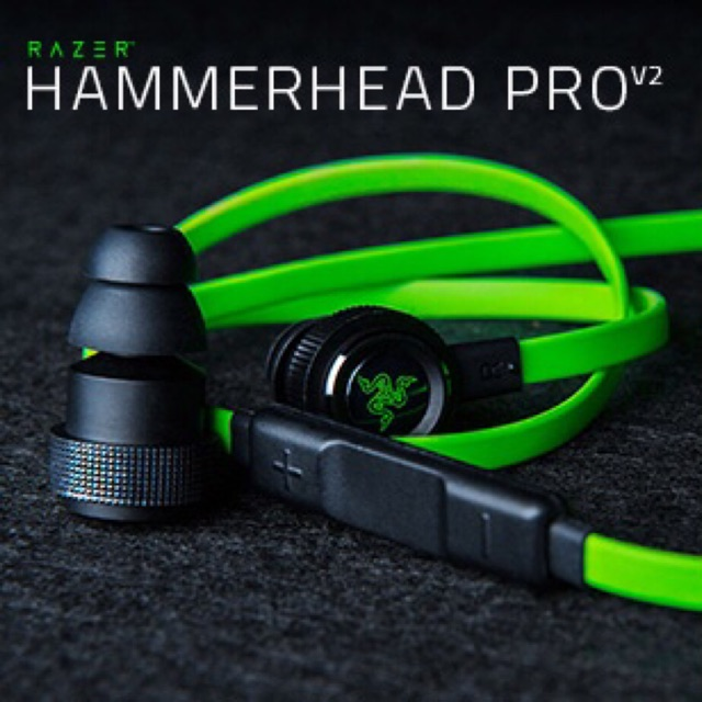 【Ready Stock】Razer Hammerhead V2 Pro In-Ear Microphone Gaming Headphones Noise Isolated Stereo Bass Headphone Earphone