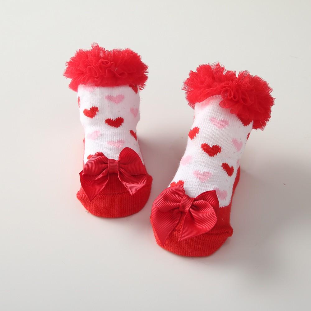 Sanlutoz Baby Girls Cotton Socks Lovely Princess Lace Socks for Baby Girl Ruffle Tutu Socks