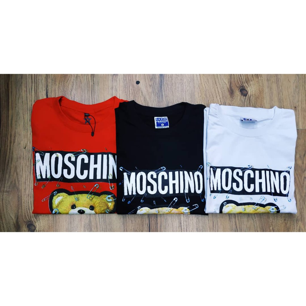 Moschino_ Men and Women Sweatshirt Cartoon Pin Bear Printing Long Sleeve Casual Couple Apprael