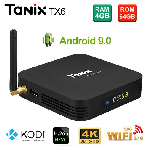 (Free Gift) Tanix TX6 4gb 64gb Android 9 0 Kodi v18 Allwinner H6 Media TV  Box