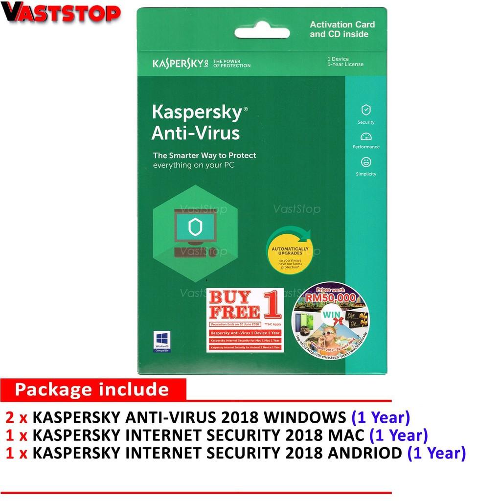 Kaspersky Antivirus 2018 1 Device Year Get Free Internet Security 3 Pc 2 Th Shopee Malaysia