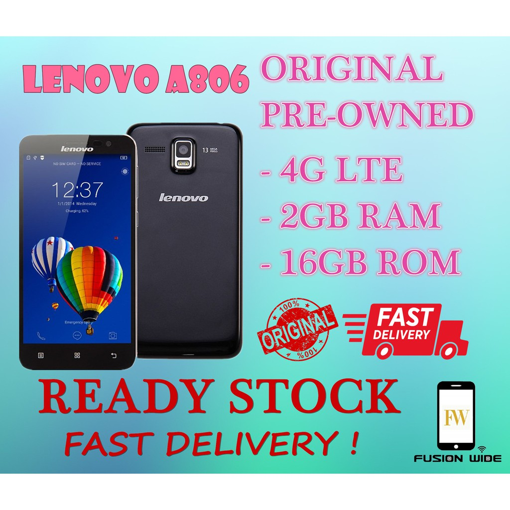 ORI LENOVO GOLDEN WARRIOR A8 2GB RAM+16GB ROM USED SET