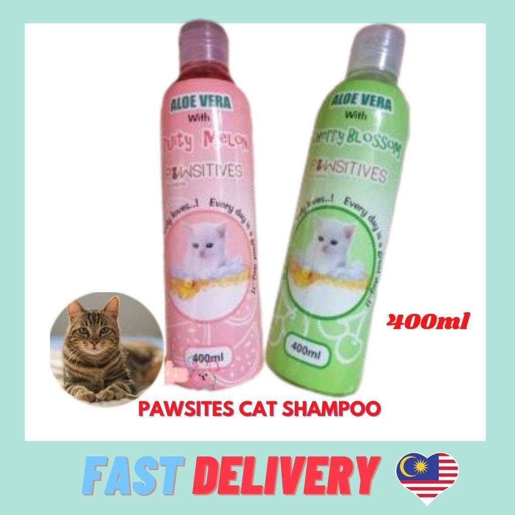 Ready Stock Pawsitives Cat Shampoo with aloe vera/ Shampu kucing 400ml