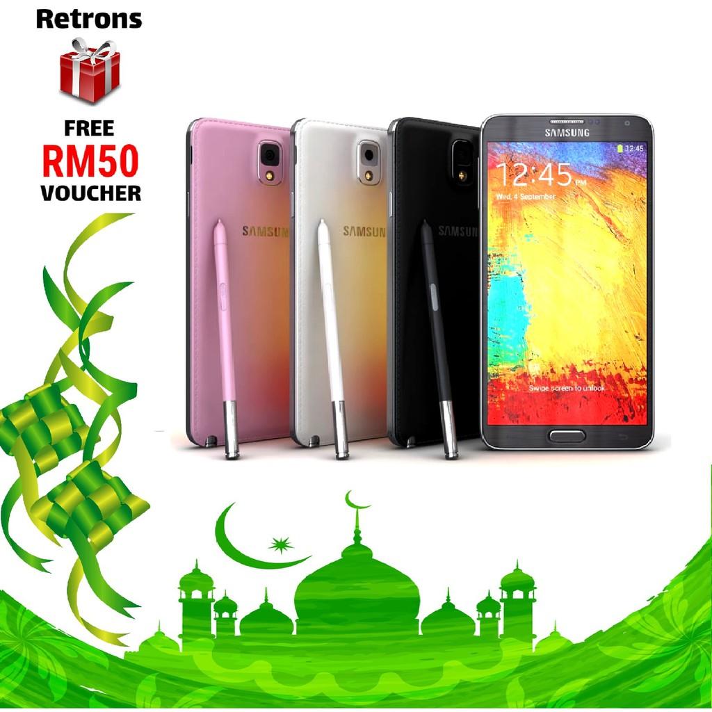 🇲🇾 Seller Original Samsung Note 3 N900 3G N9005 4G 16GB 32GB + 3GB RAM  AMOLED HD LCD FREE RM50 Voucher