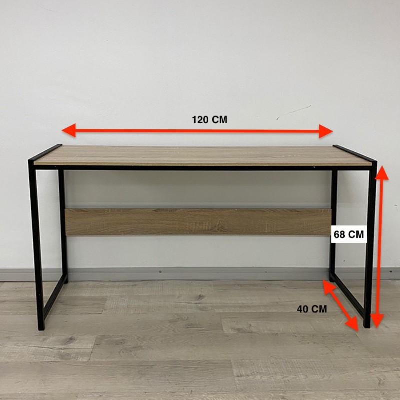 HARRY 120x40cm Metal Frame Study Desk OAK COLOR office table meja kerja metal frame office table study table ready stock