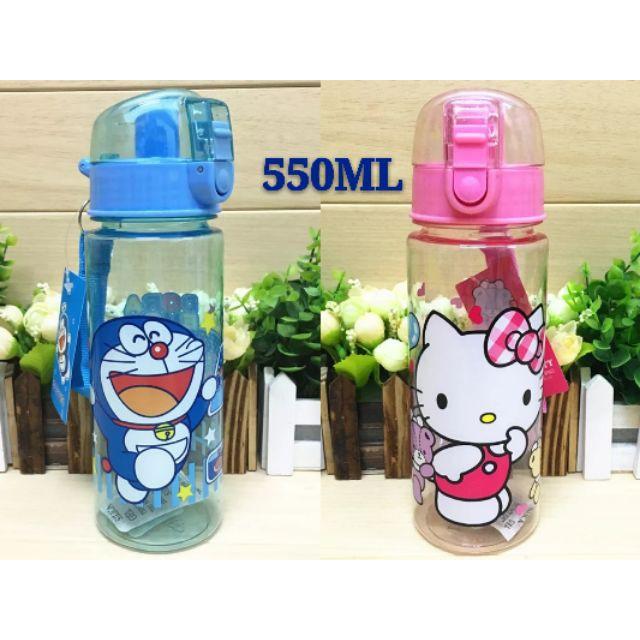 [ READY STOCK ]  Cute Cartoon Hello Kitty Doraemon Kid Water Bottle Kid Baby Kitchen Jualan Murah Feeding Cup Drinking