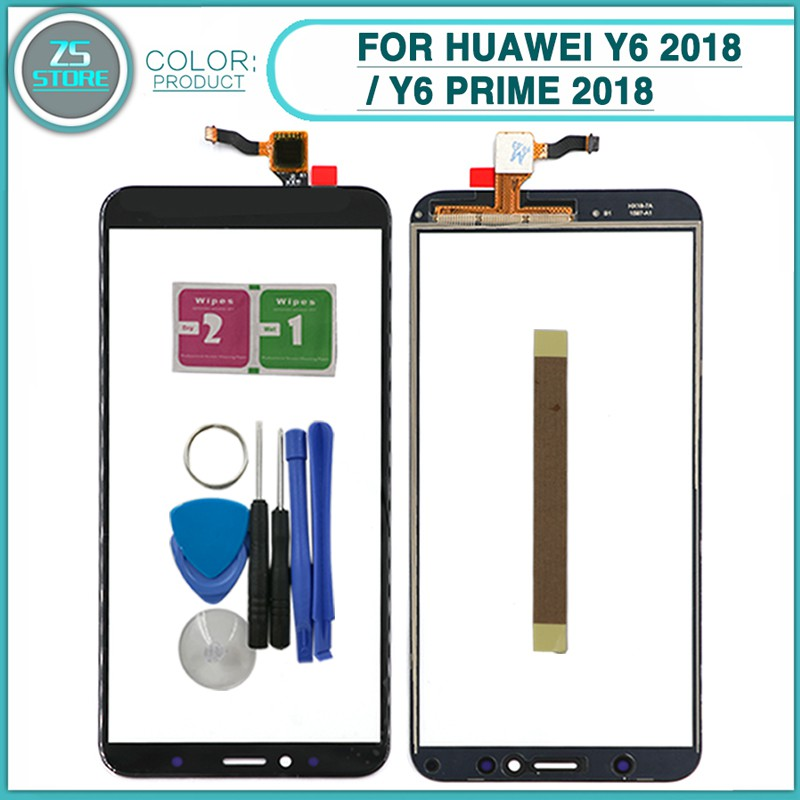 Touch Screen For Huawei Y6 2018 / Y6 Prime 2018 Panel Digitizer Sensor  Front Glass lens