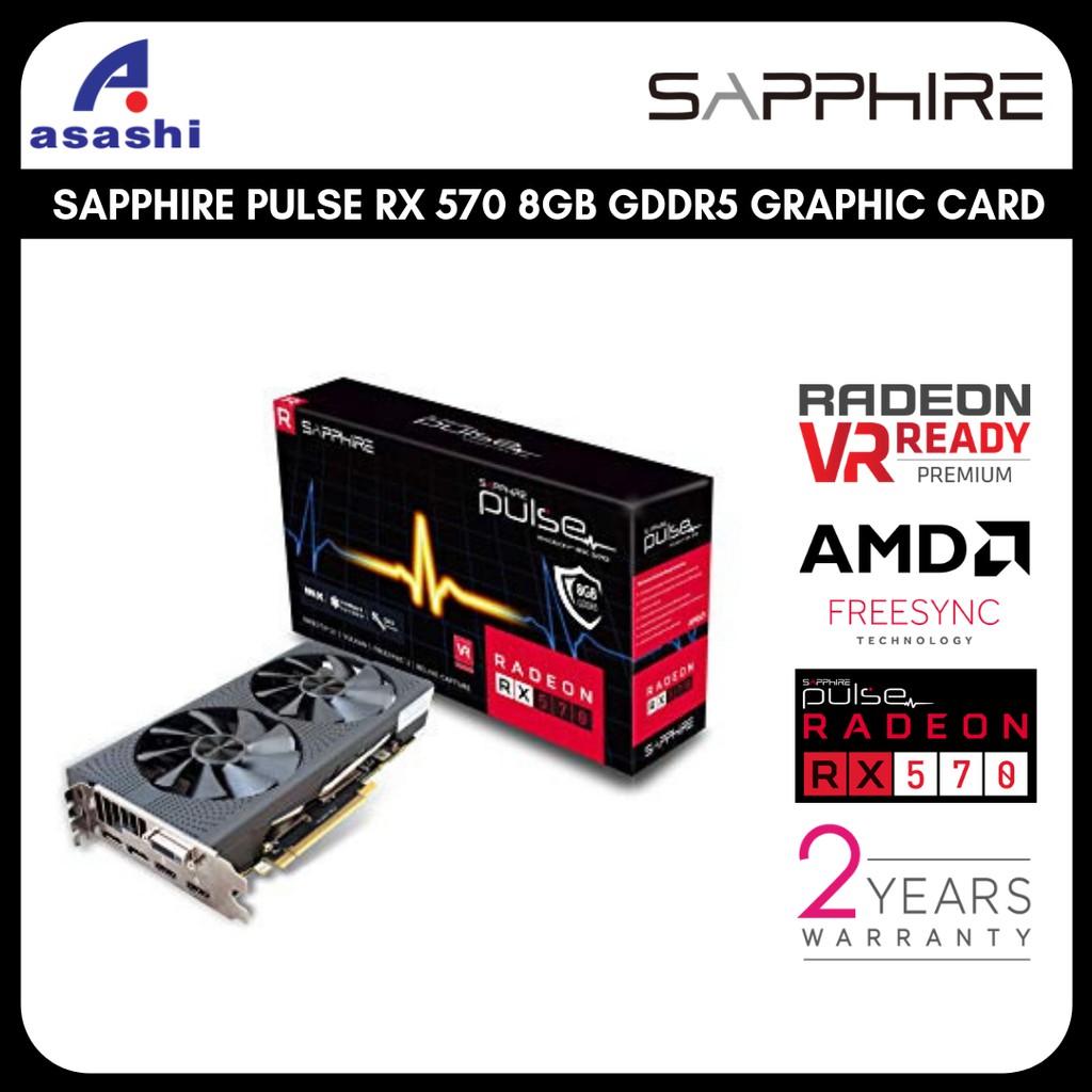 【READY STOCK & NEW UNIT】SAPPHIRE PULSE RADEON RX 570 8GB GDDR5 GRAPHIC CARD