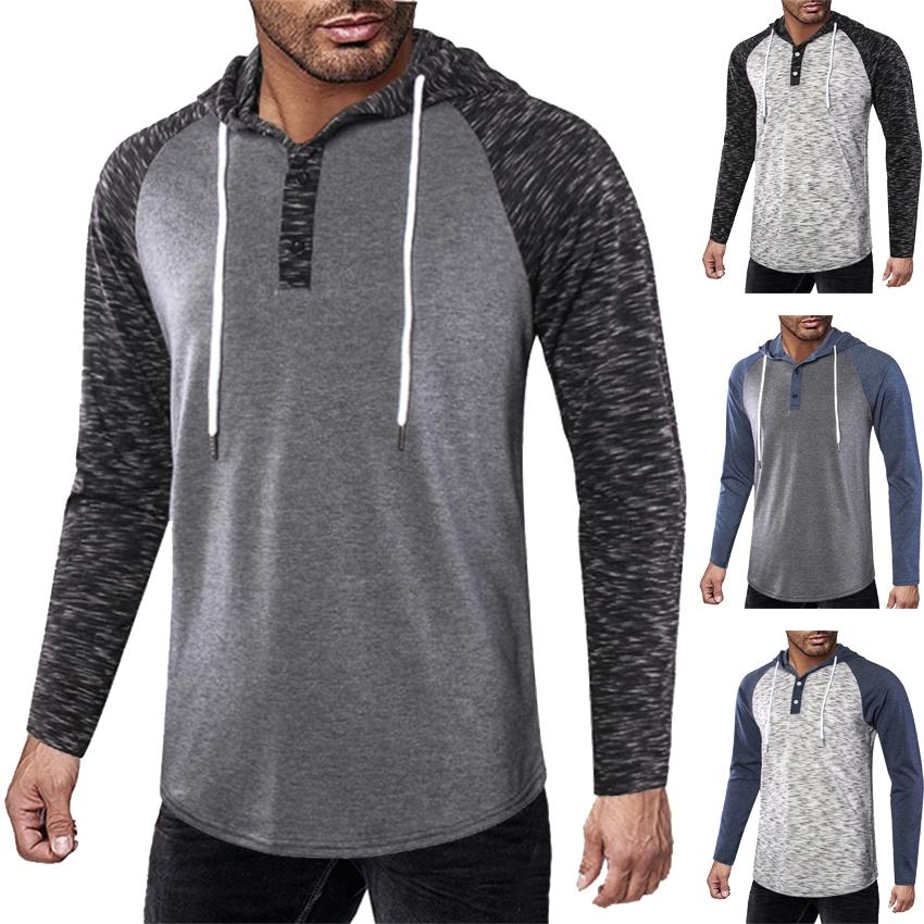e521ee2f8ec Men's Long Sleeve T Shirt Streetwear Hooded Hat T Shirt Men Swag Hip Hop  T-Shirt