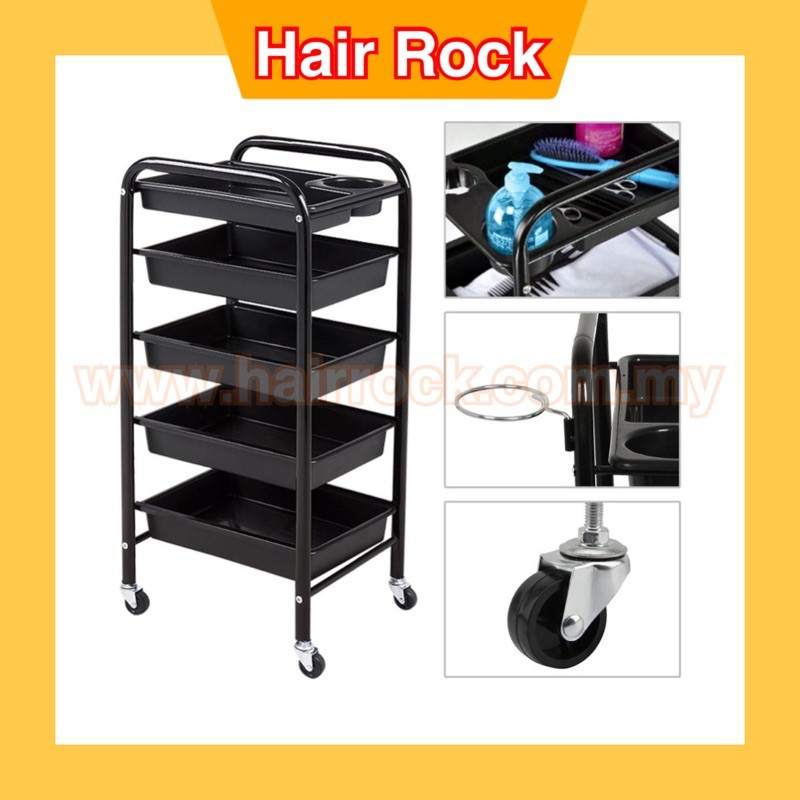 Professional Salon Trolley 5 Tier Storage Rolling Carts - Model 016