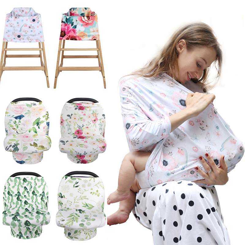 2 In 1 Car Seat Cover Nursing Shawl, Camo Baby Car Seat Canopy