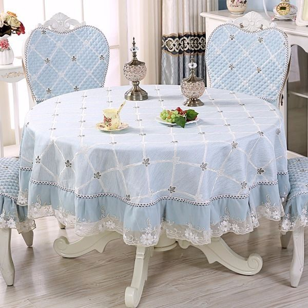 Large Round Table Cloth.European Table Cloth Cushion Set Modern Simple And Chair Large Round Tablecloth
