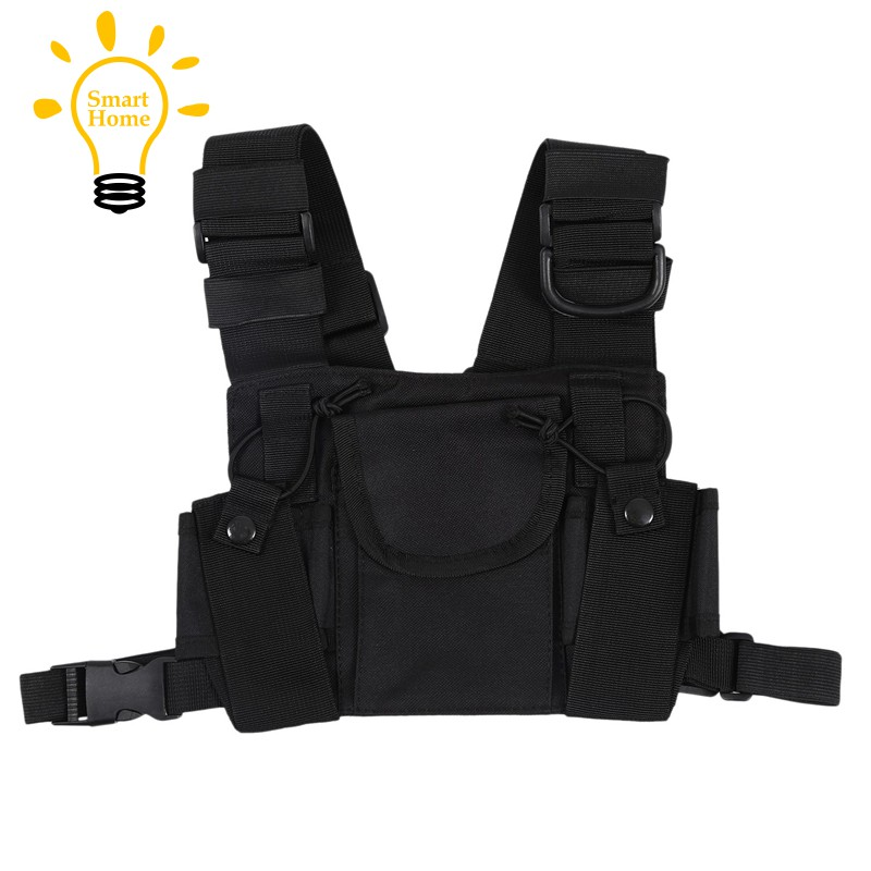 ◆STOCK◆Radio Walkie Talkie Chest Pocket Harness Bags Pack Backpack Holster T
