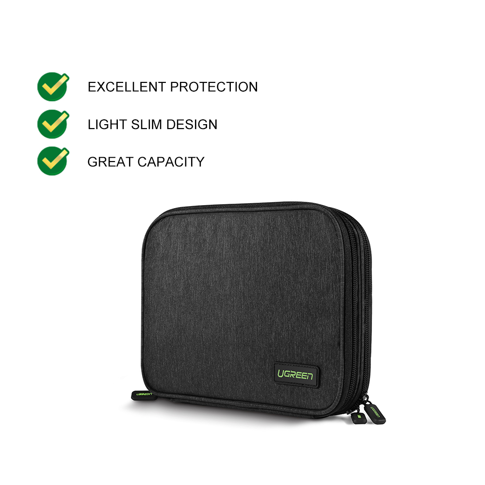 UGREEN Accessories Storage Bag Charger Charging Headset Mouse Accessories Storage Bag Large Capacity Travel Portable Bag