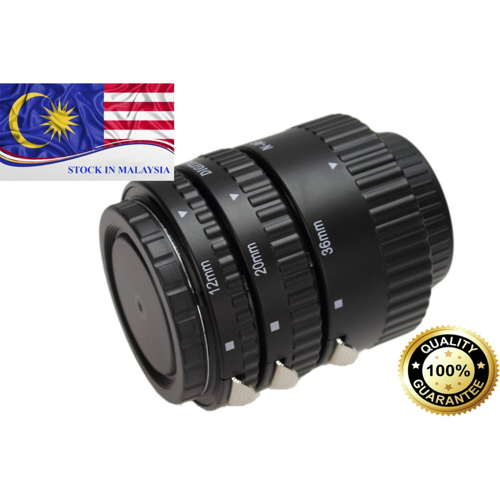 Meike Auto Focus Macro Extension Tube For NIKON AF AF-S DX FX (Ready Stock In Malaysia)