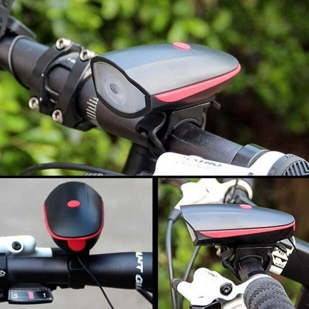 Bike Headlight with 120DB Loud Horn and Bright Waterproof 500LM Bicycle Light