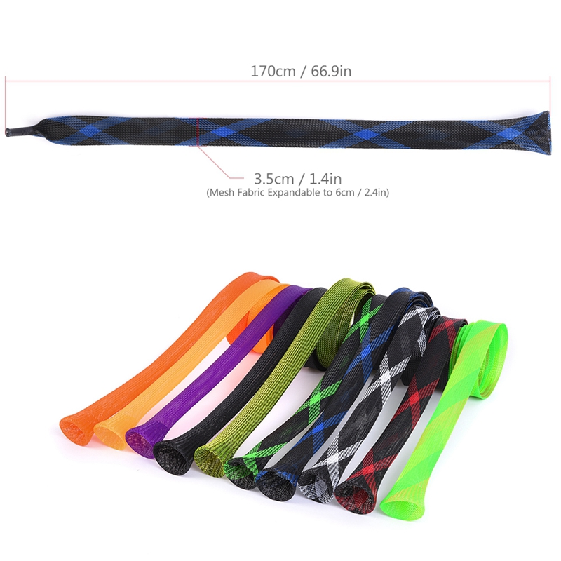Soft Fishing Rod Protector Sleeve Fishing Pole Elastic Sock Cover Pouch Bag