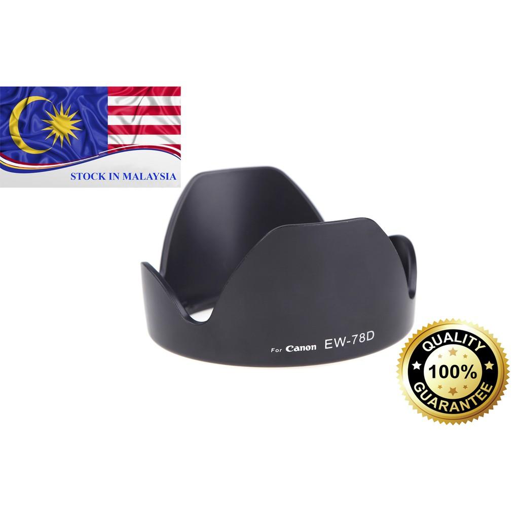 EW-78D EW78D Lens Hood For Canon EF-S 18-200mm/EF 28-200mm (Ready Stock In Malaysia)