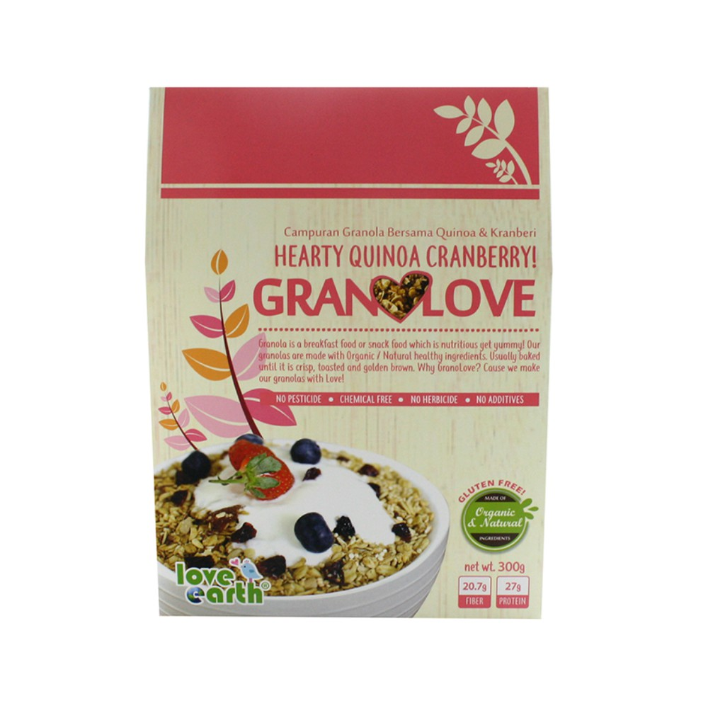 Hearty Quinoa Cranberry Granolove 300g