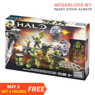 Mega Bloks Construx Halo CNG63 UNSC Fireteam Taurus 152 Pcs【New  Sealed】Building Blocks Action Figures Toys Model Gift