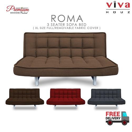 Viva Houz Roma Premium Quality Sofa Bed 3 Seater Sofa Made in Malaysia