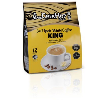 Chek Hup 3in1 Ipoh White Coffee King 12's x 40g (Exp: 02/2020)
