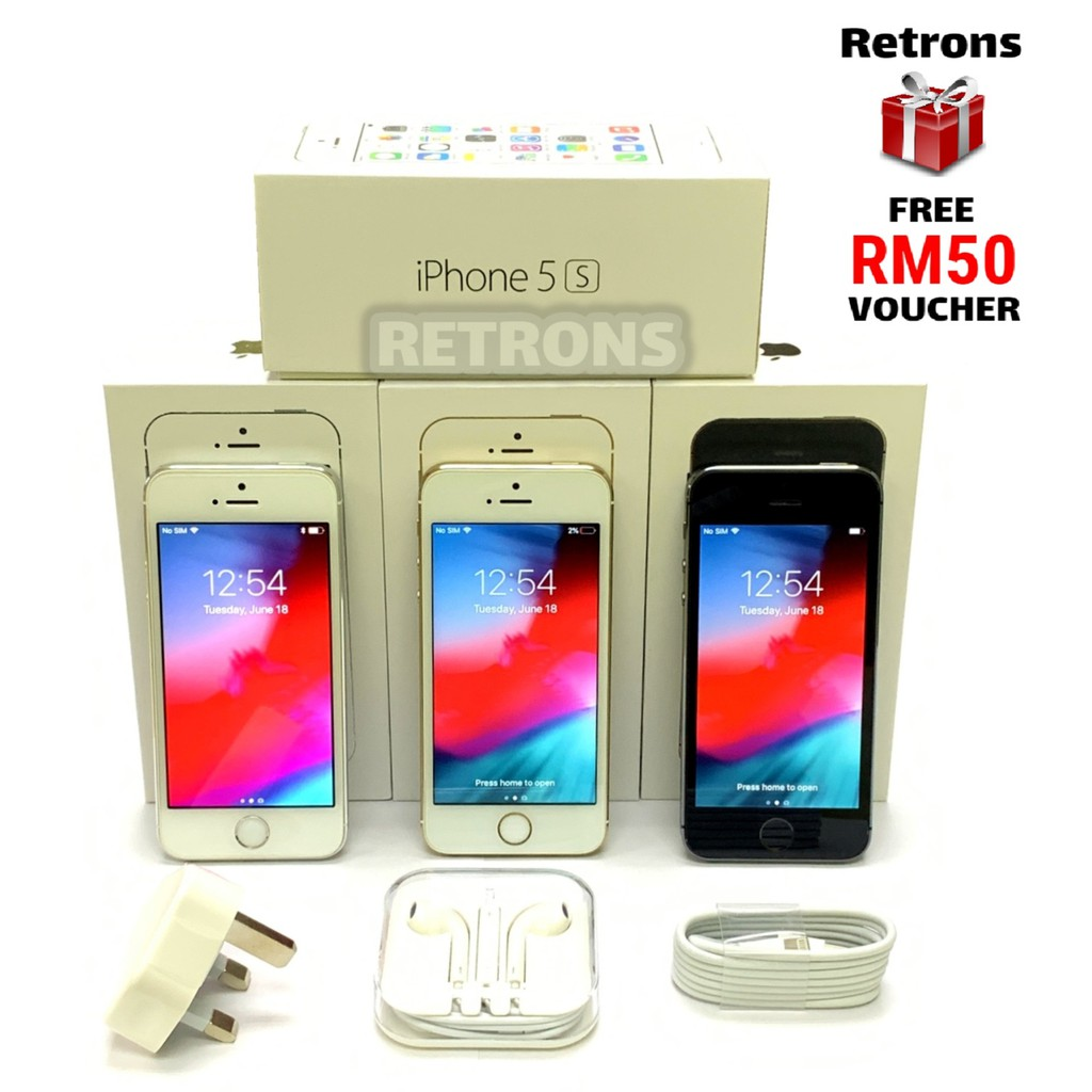 🇲🇾 Ori Used Apple iPhone 5S 16GB 32GB 64GB 98% Like New Condition [1 Month Warranty] FREE RM50 Voucher