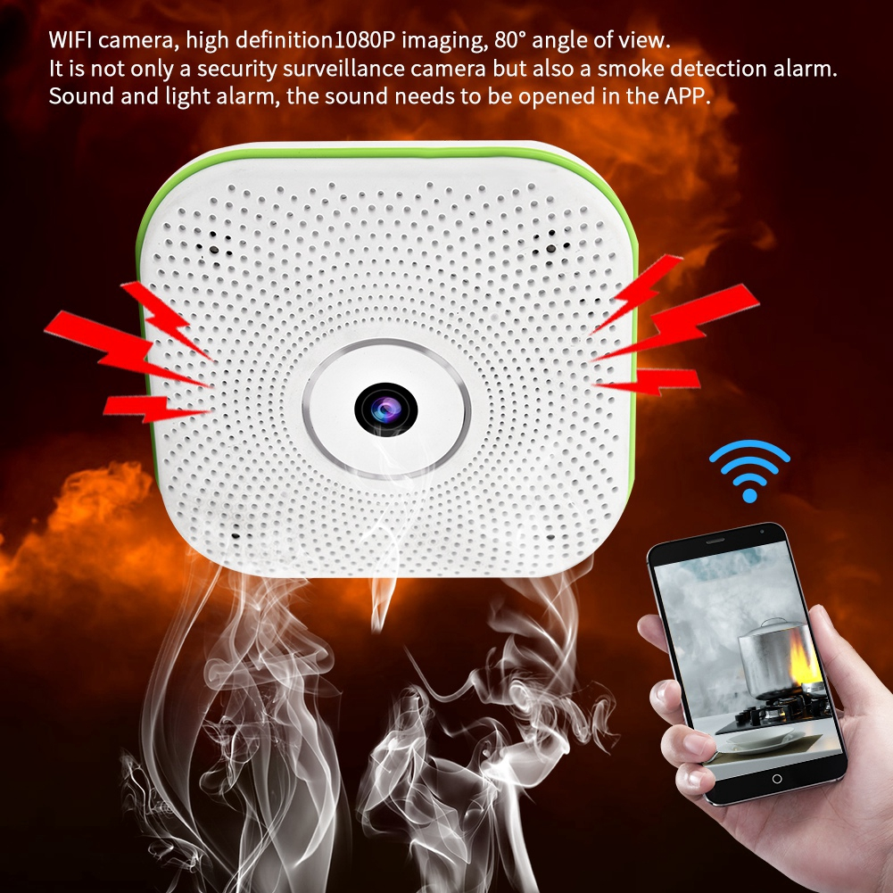 WIFI Security Alarm Camera Wireless Surveillance Quality Detector