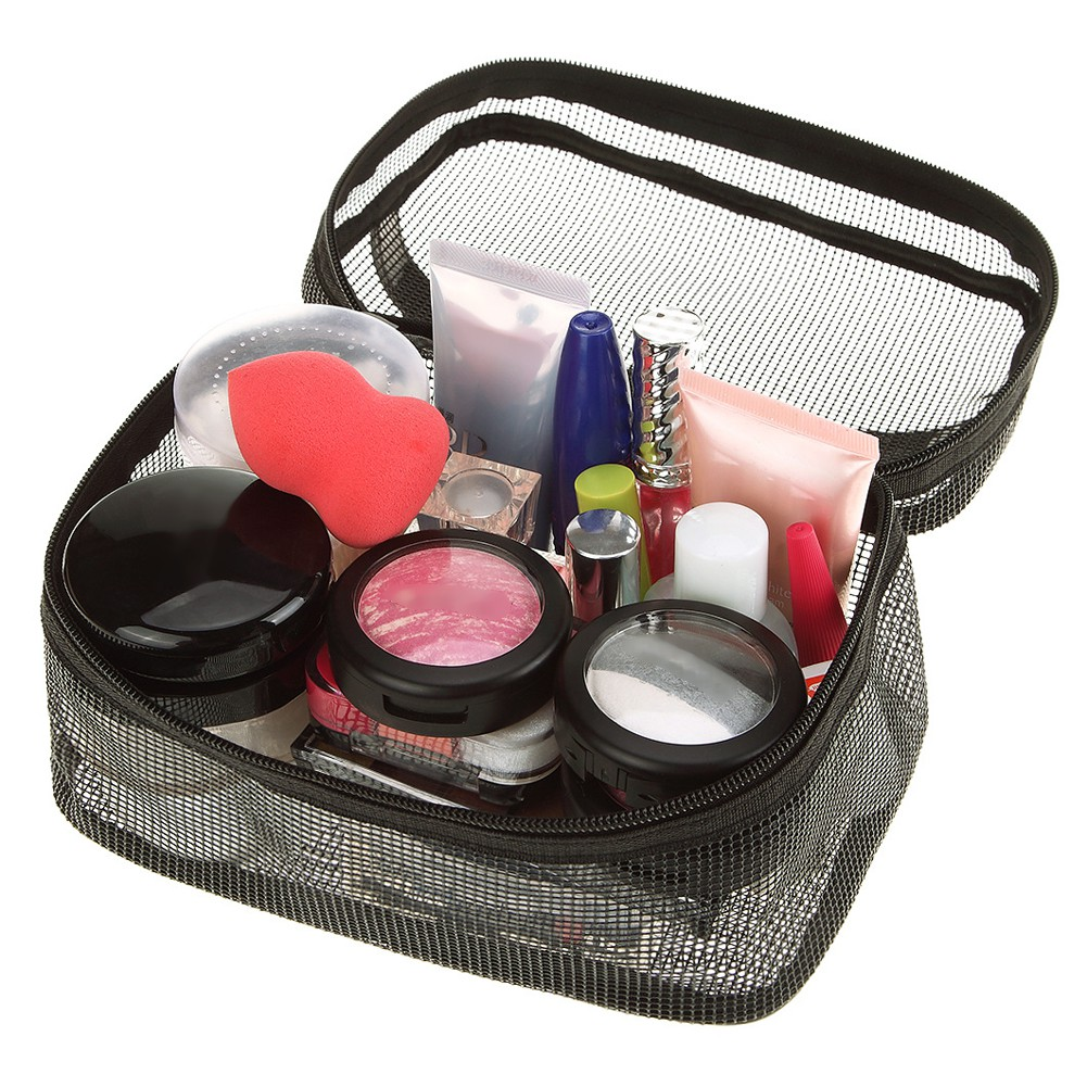 ff636503cf95 Travel Lady Mesh Cosmetics Bag Women Toiletry Portable Purse ...